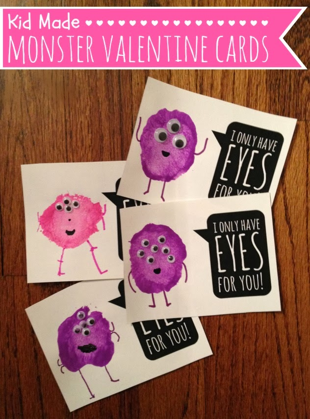 21 DIY Valentines for Kids The Well Nourished Nest – Cookie Monster Valentine Cards