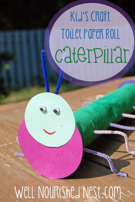 Toilet Paper Roll Crafts - Easy and cute caterpillar! The Well Nourished Nest