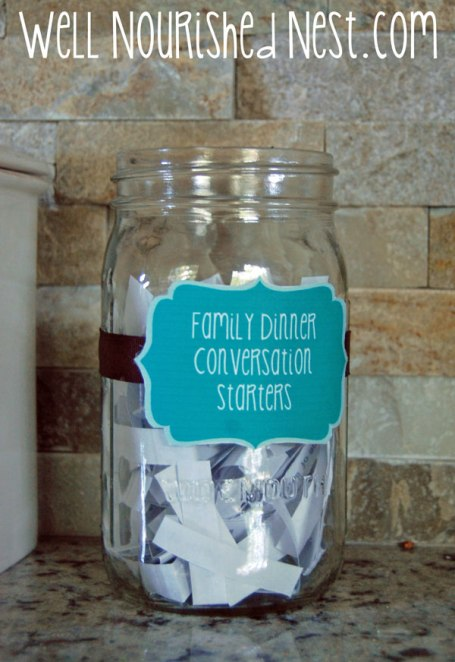 Family Dinner Ideas - 5 Creative Ways to Make it Fun! Wellnourishednest.com