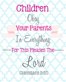 Bible Verses for Children - Weekly Bible Verse Printables for kids!  Wellnourishednest.com